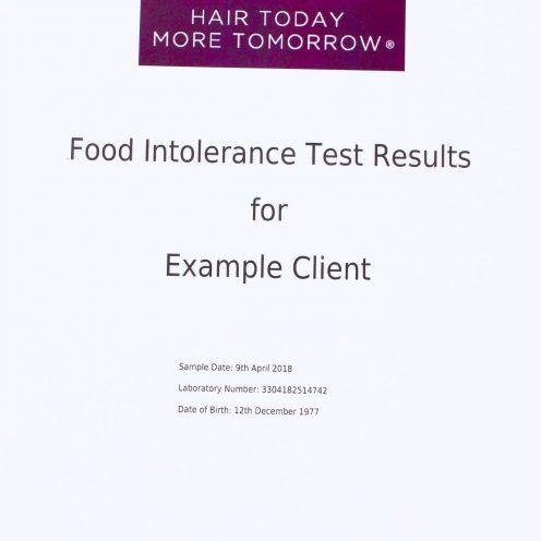 Food & drink IgG intolerance blood results